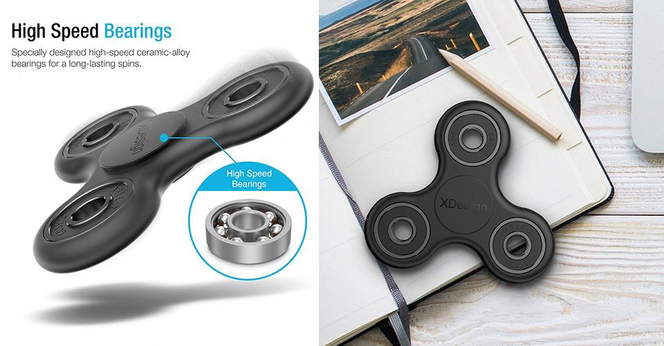 XDesign Tri-Spinner Fidget Spinner A de la Céramique en Alliage de Roulements, Obtenez-en Un pour $16.99 - aujourd'Hui Seulement