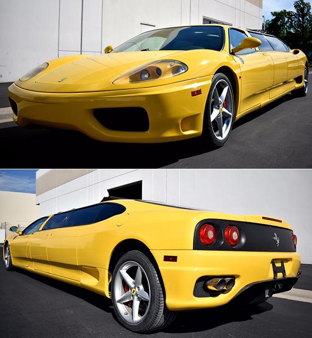 Yellow Ferrari Limo