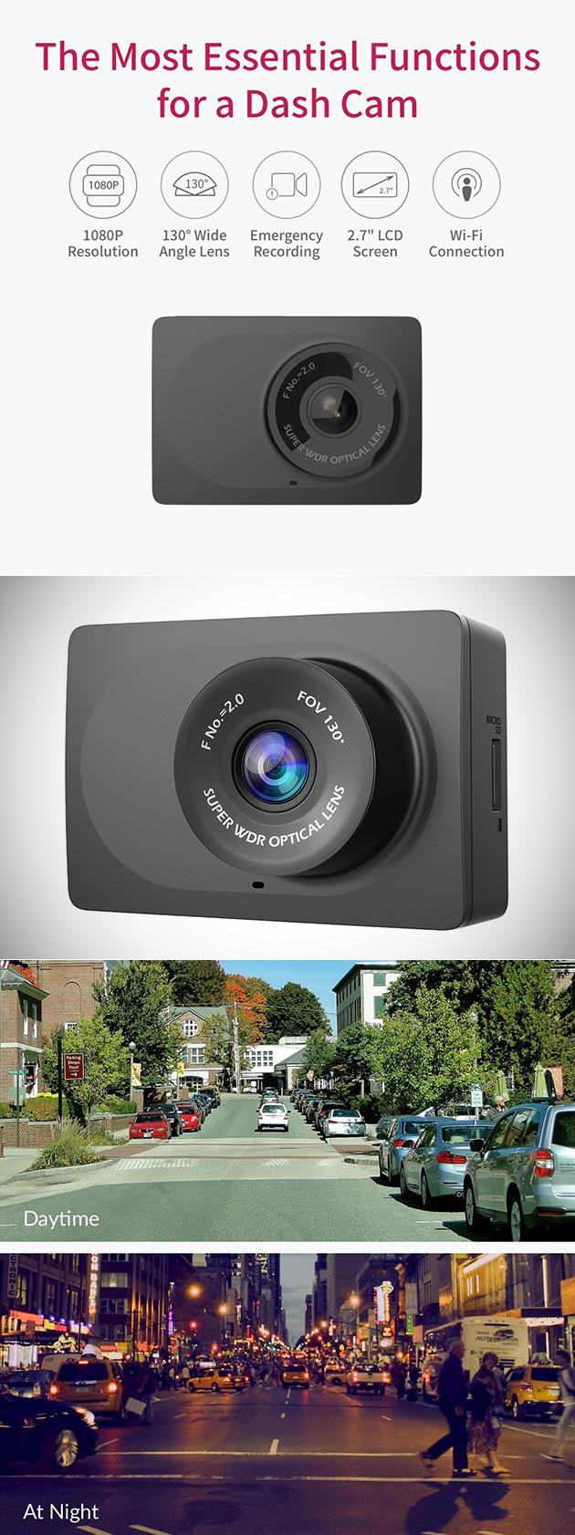 Não Pagar r $70, Obter o Yi 1080p Carro Traço Cam com 2,7