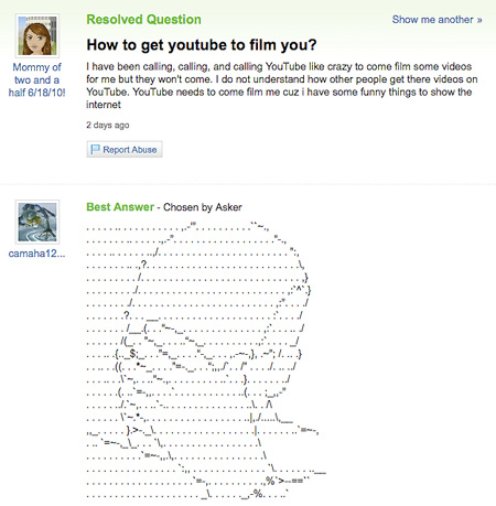 YouTube is Currently Busy, Please Hold. File this under: funny Yahoo Answers