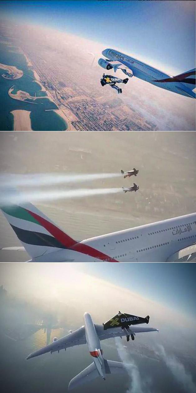 Yves Rossy Jetman Rossy A380 Dubai