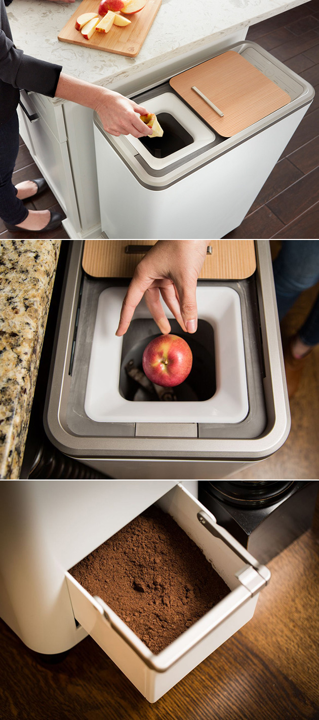 Zera Food Recycler Turns Food Scraps Into Usable Fertilizer At The