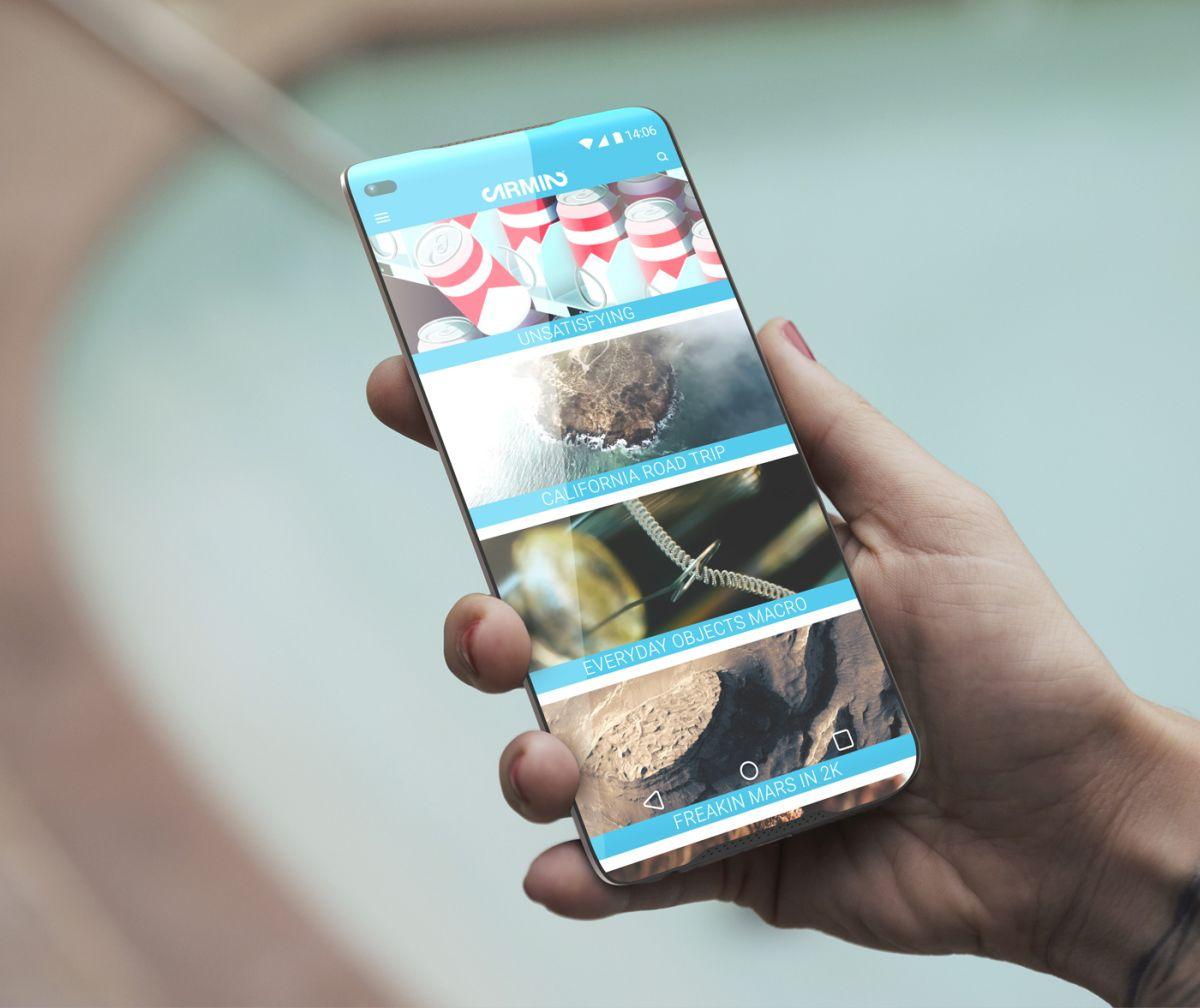Null Frame-Smartphone Verfügt Über Dual-Kameras, Gebogene Ergonomisches Design