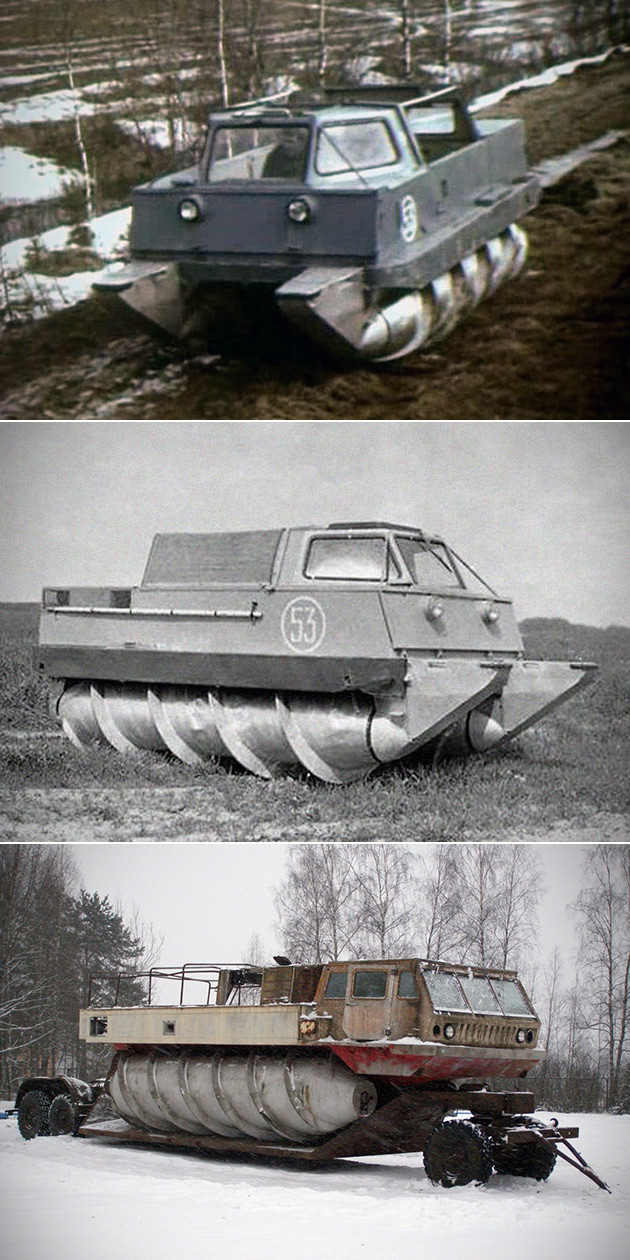 Russian Screw-Propelled Vehicle
